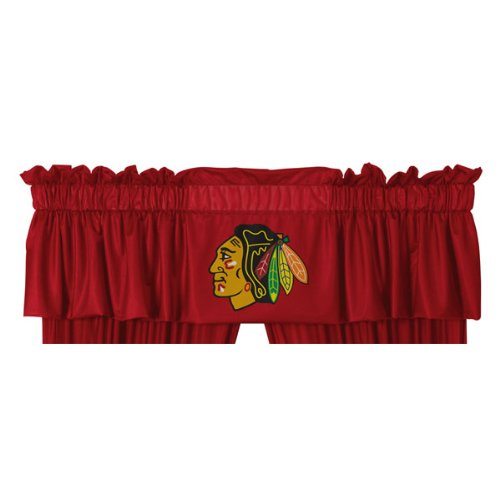 Chicago Blackhawks NHL Locker Room Team Color Valance (New Valance)