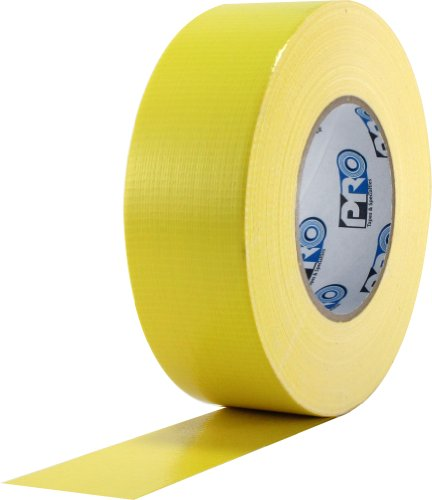 "ProTapes Pro Duct 120 PE-Coated Cloth Premium Industrial Grade Duct Tape, 60 yds Length x 2"" Width, Yellow (Pack of 1)"