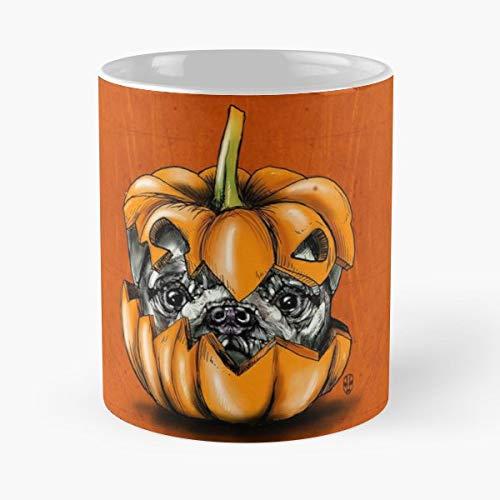Fakeface Pug Tatoo Dog - Best Gift Coffee
