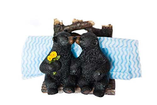 - Wooden Black Bear Napkin Holder. For kitchen and table decoration in your cabin or ranch home.