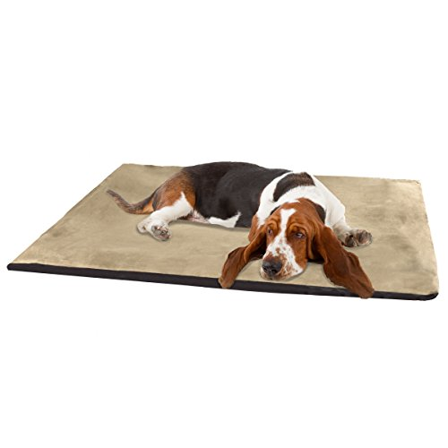 PETMAKER 2-Inch Orthopedic Foam Pet Bed, Jumbo, Suede Clay by PETMAKER
