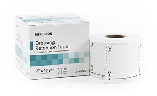 McKesson - Dressing Retention Tape NonWoven Fabric / Printed Release Paper 2 Inch X 10 Yard White NonSterile - 12/Case - McK by McKesson