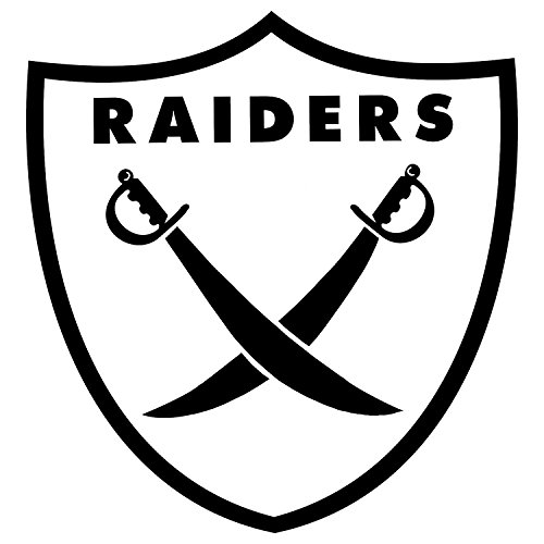 - NFL - The Oakland Raiders BLACK set of 2 - silhouette stencil artwork by ANGDEST - Waterproof Vinyl Decal Stickers for Laptop Phone Helmet Car Window Bumper Mug Cup Door Wall Home DecoraSX6to