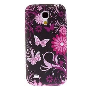 Conseguir Coloridas flores y mariposas Caso duro del patrón para Samsung Galaxy S4 Mini I9190