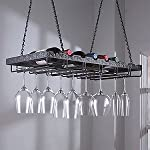 Wine Enthusiast Metal Hanging Wine Glass Rack from Wine Enthusiast