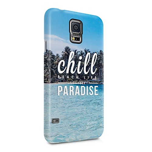 Chill Paradise Beach Life Sun Hawaii Good Vibes Only Plastic Phone Snap On Back Case Cover Shell For Samsung Galaxy S5