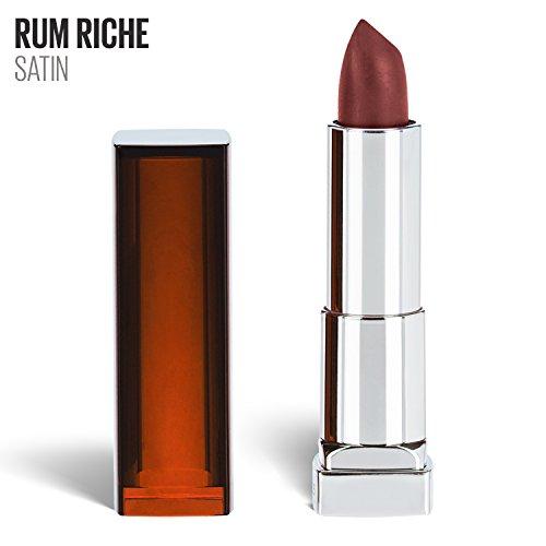 Maybelline New York Color Sensational Nude Lipstick, Satin Lipstick, Rum Riche, 0.15 oz