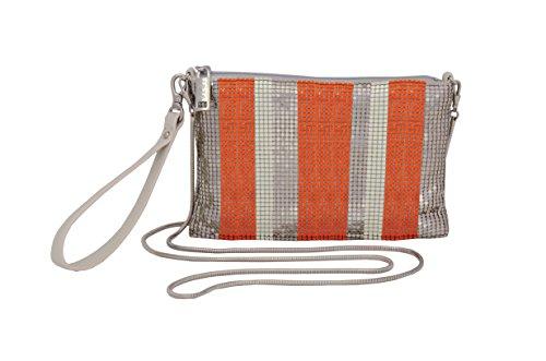 whiting-davis-metal-mesh-stripes-envelope-clutch-orange-multi-one-size