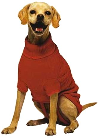 Large Cable Dog Sweater (Fashion Pet Classic Cable Dog Sweater, Red,)