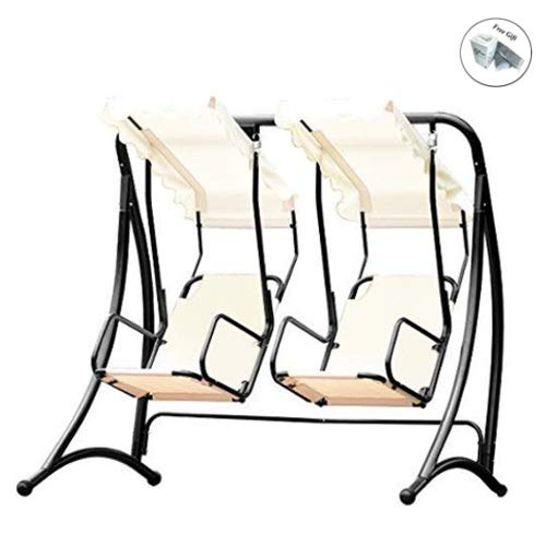 COSTWAY 2 Person Outdoor Hanging Canopy Hammock Porch Swing Only by eight24hours ()