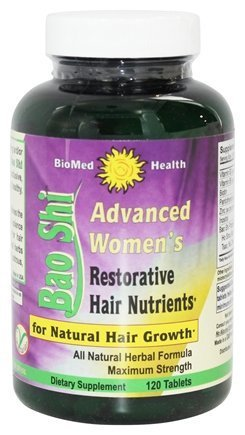 Bao shi Advanced Women's Nutriention Caplets for Natural Hair growth 120 ea (Pack of 2) by Biomed Health
