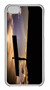 iPhone 5C Case, Personalized Custom The Angel Of The North for iPhone 5C PC Clear Case