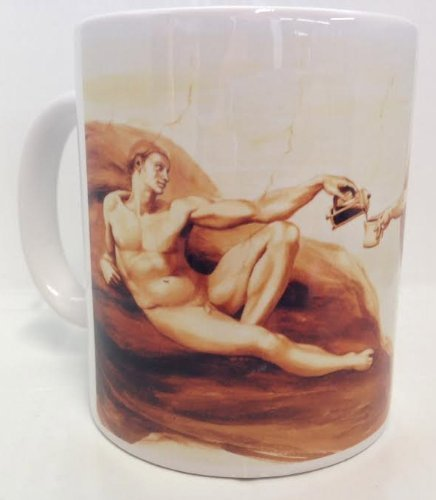 Michelangelo's Morning Coffee in the Sistine Chapel 11oz Ceramic Coffee Mug by Cotton Cult