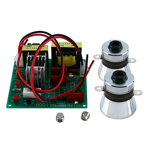 YaeCCC 110V Ultrasonic Cleaner Power Driver Board with 2PCS 50W 40K Transducers