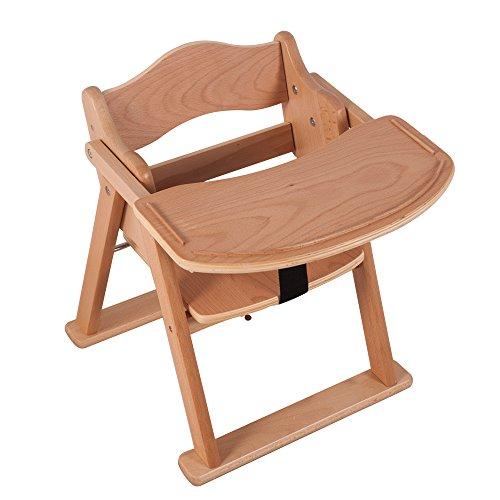 (OSJ)ベビーチェア ローチェア 天然木 キッズ用食卓 折りたたみチェア 組立不要 (ナチュラル)