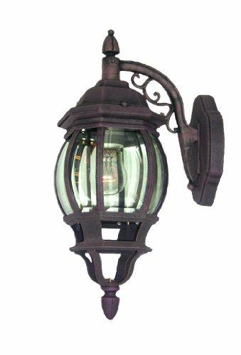 Woodbridge Lighting 61000-BKP Basic 1-Light Outdoor Wall Sconce, Powder Coat Black Review
