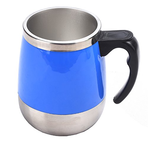 DTS-ES 450ml Stainless Steel Automatic Mixing Cup,Holiday Gift, Used For Drink Coffee, Milk, Oats, Etc In Office Or In Family Or In Park Or Outing
