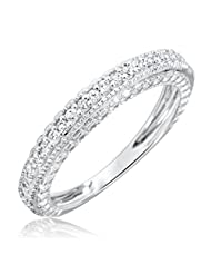 1/5 Carat T.W. Round Cut Diamond Women's Wedding Ring 10K White Gold