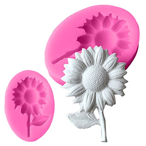 Sunflower Silicone molds flower soap mold flowers silicone soap molds flowers silica gel die 3D Aroma stone moulds 3d candle