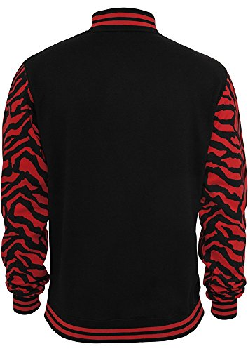 2-tone Zebra College Jacket red/blk S