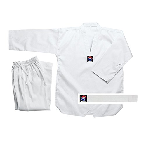 Zephyr Tae Kwon Do Gi Student Uniform with Belt - White - 000