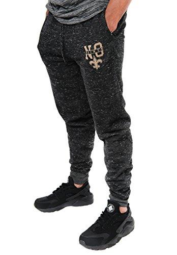 NFL New Orleans Saints Men's Jogger Pants Active Snow Fleece Sweatpants, X-Large, Black (Jersey Classic Print Screen)
