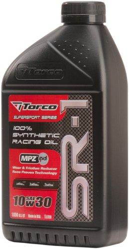 Torco A161033C SR-1 10w30 Synthetic Racing Oil Bottle - 1 Liter Bottle, (Case of 12)