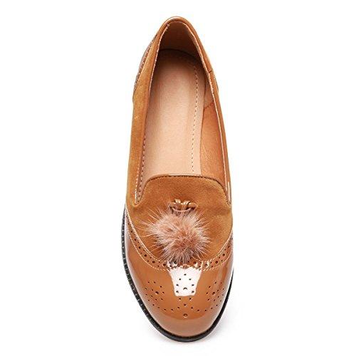 La Modeuse - Mocasines para mujer marrón claro