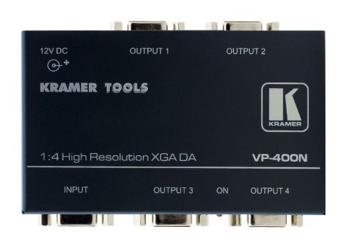 (Kramer Tools - VP-400N - 1:4 Computer Graphics Video Distribution Amplifier UXGA - VGA Splitter)