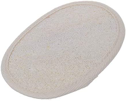 Exfoliating Sponge Beige Oval Bath Shower Face Loofah Scrubber