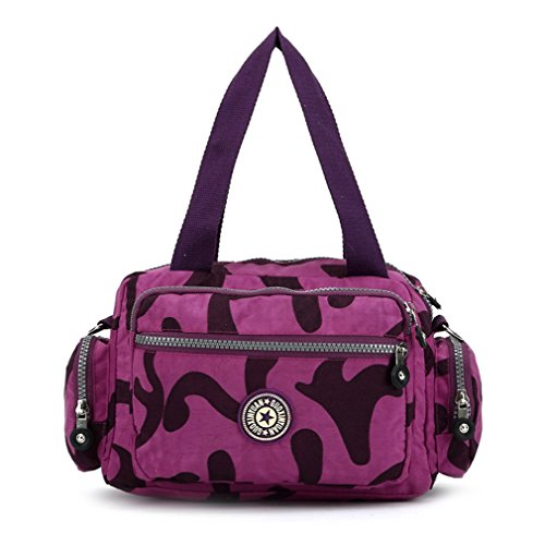 Bag Handbags Nylon Girls Casual body Shoulder for Lightweight Washable Bag Purple Waterproof Handbag Cross Totems A YC74Uq7Hxn