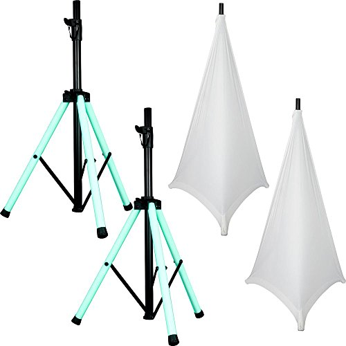 American Audio LED Light-Up Speaker Stands with White Gator Scrims