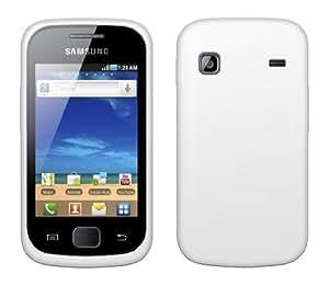 4-Ok FSSGIB - Funda silicolor para Samsung Galaxy Gio S5660, color blanco