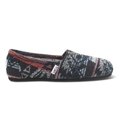 TOMS Women's Classics Shoe Black Jacquard Size 5.5 B(M) US | Shoes