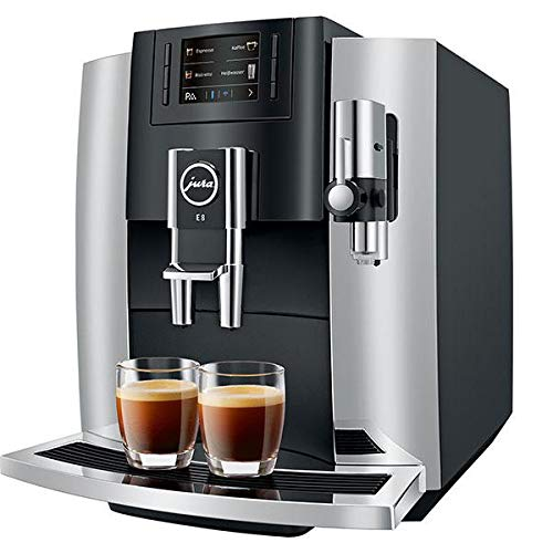 Jura E8 Chrome Automatic Coffee Machine, Black Chrome by Jura