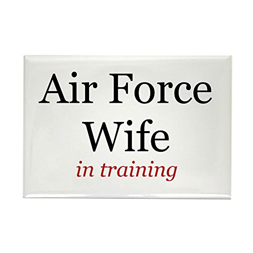 CafePress Air Force Wife in training Rectangle Magnet Rectangle Magnet, 2