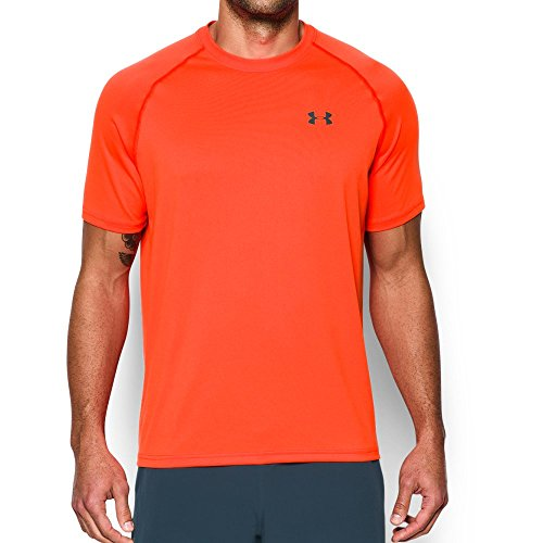 Under Armour Men's Tech Short Sleeve T-Shirt, Phoenix Fire /Stealth Gray, X-Large