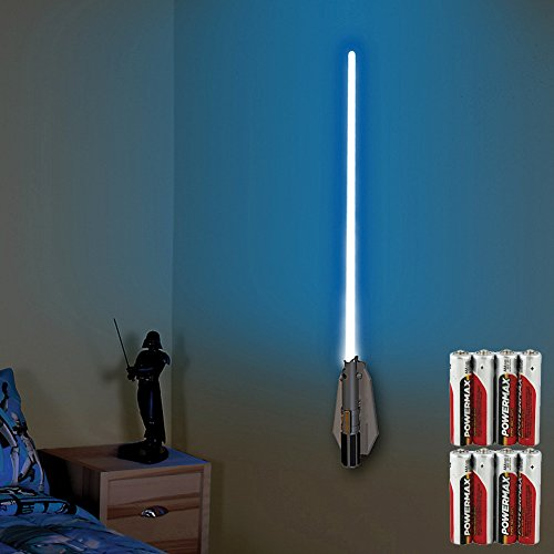 (Set) Star Wars Deluxe Lightsaber Room Light With Remote & 8 AAA Batteries
