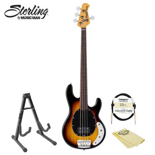 Sterling By Music Man Ray34cafl Fretless Bass Kit 3 Tone Sunburst