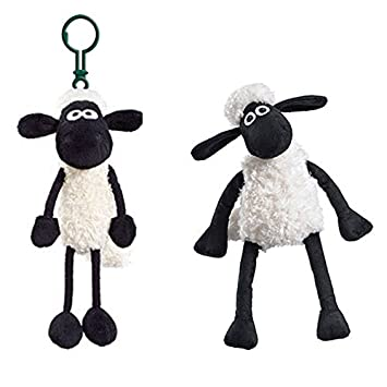 Licenced Shaun the Sheep Sitting Plush Soft Toy (20cm)   Shaun the Sheep  Clip-on Keyring - 2 pack Genuine  Amazon.co.uk  Toys   Games 2b0e4ff410b5