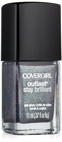 Covergirl Outlast Stay Brilliant Nail Gloss, Midnight Magic 320, 0.37 (Midnight Nail Lacquer)