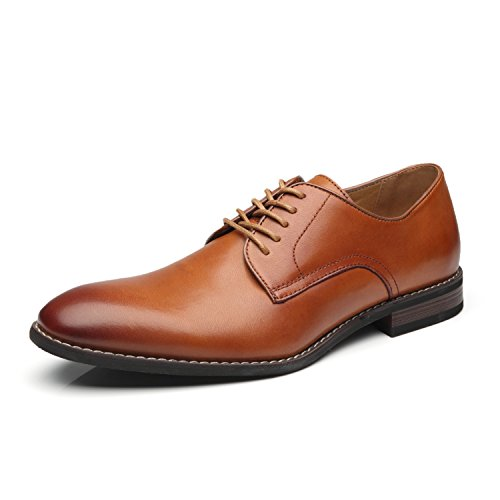 Shoes Lace up Oxford Classic Plain Toe Modern Formal Shoes for Men (Formal Shoes)