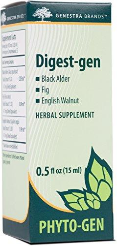 Genestra Brands – Digest-gen – Black Alder, Fig, and English Walnut Herbal Supplement – 0.5 fl oz (15 ml)