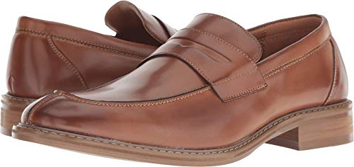 Unlisted by Kenneth Cole Men's Kinley Slip ON Penny Loafer, Cognac, 7 M US
