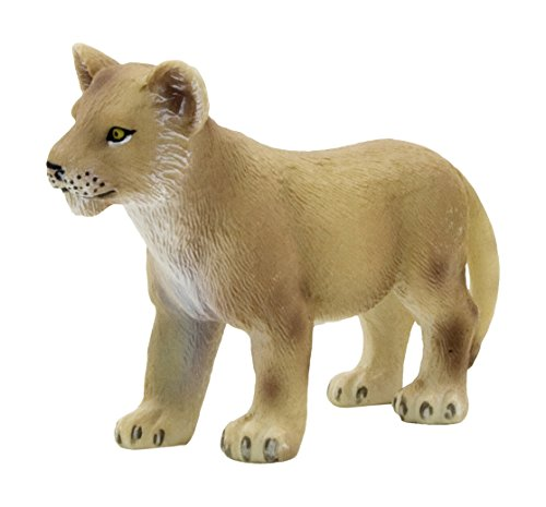 Mojo Fun 387011 Lion Cub Standing - Realistic International Wildlife Toy Replica - Lion Cub Figurine