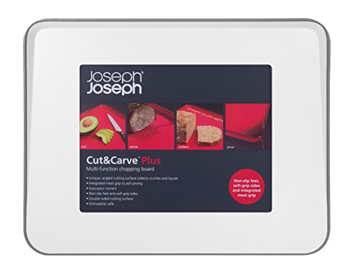 Joseph Joseph 60003 Cut & Carve Multi-Function Cutting Board, Large, White