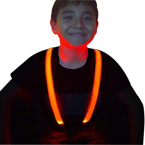 (Children Boys Kids Light Up Suspenders - Adjustable Elastic Y Back LED Suspender)