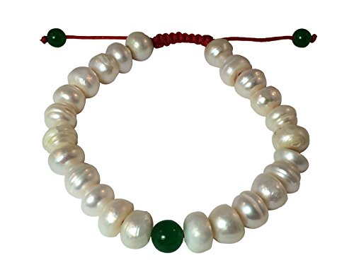 Tibetan Mala Mother of Pearl Wrist Mala/bracelet for Meditation (Green jade) Mother Of Pearl White Bracelet
