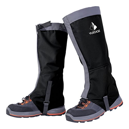 ow Boot Gaiters 600D Anti-Tear Oxford Fabric for Outdoor Hiking Walking Hunting Climbing Trimming Grass(Black) ()
