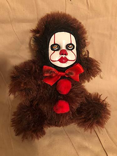 OOAK Pennywise IT Clown Teddy Bear #9 Creepy Horror Doll Art Christie Creepydolls from Christie Creepy Dolls